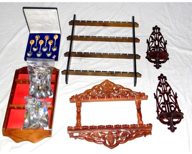 Souvenir Spoon Collection with Racks.