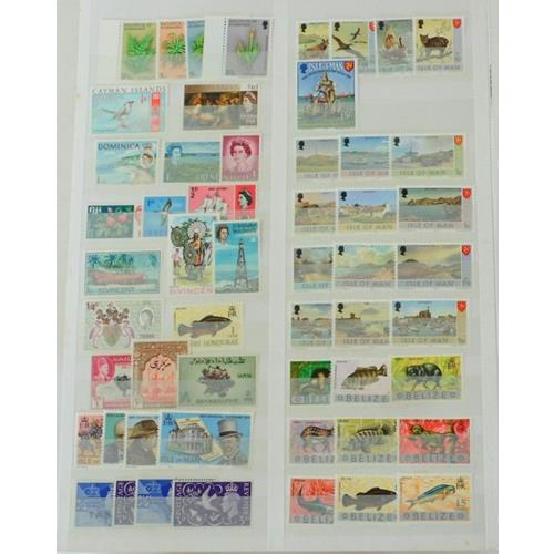 Collection of British Colonies,I.O.M & GB  from KGV Mainly Unmounted Mint.