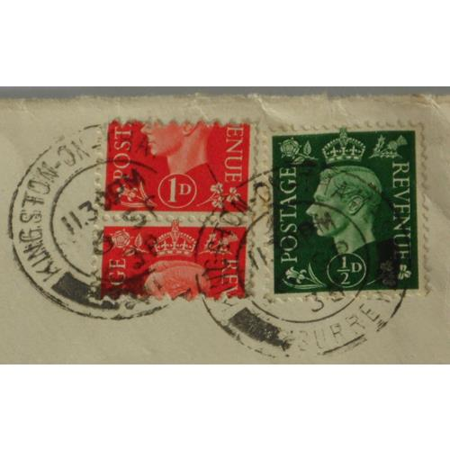 Great Britain KG VI 1d Scarlet