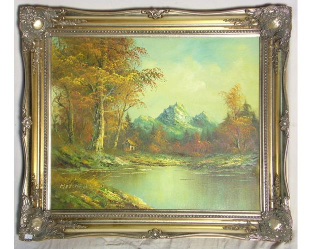 Mitchell's Oil on Board  Mountain Landscape.  Signed Mitchell's
