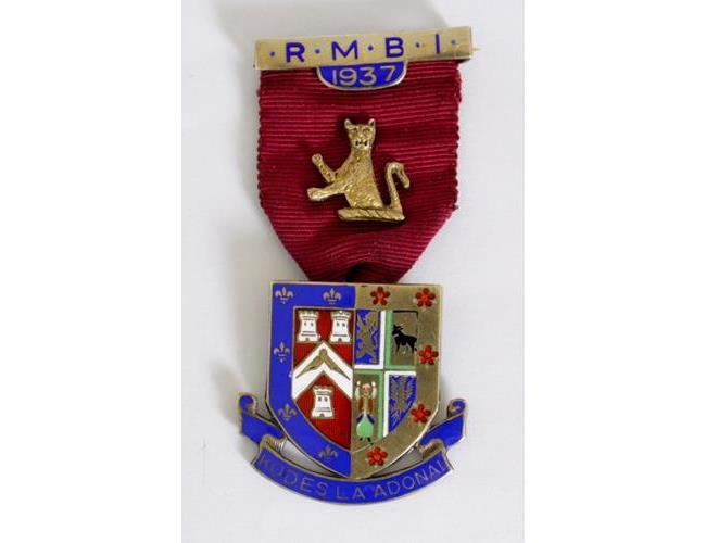 Silver Gilt & Enamelled Masonic Jewel Royal  Masonic Benefit Institute.