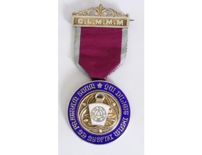 Silver Gilt & Enamelled Masonic Jewel Grand  Lodge of  Master Masons.