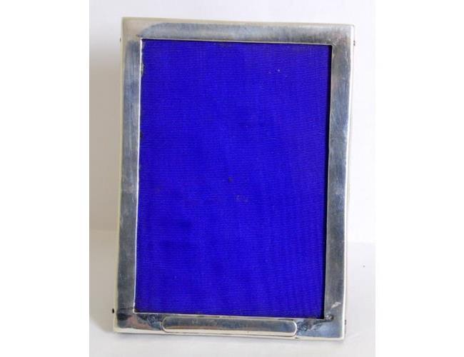 Sterling Silver Picture Frame / Oak Back &  Easel by Sanders & Mackenzie.
