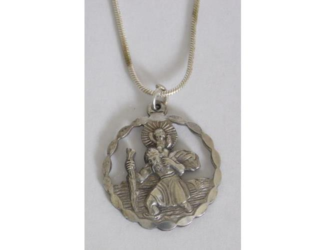 Georg Jensen Sterling Silver Pierced 'St  Christopher' Pendant