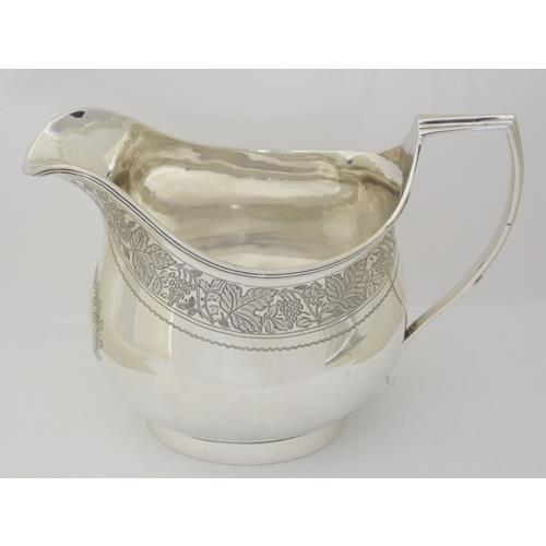 A Fine Victorian Sterling Silver Sauce Boat  with Vacant Cartouch