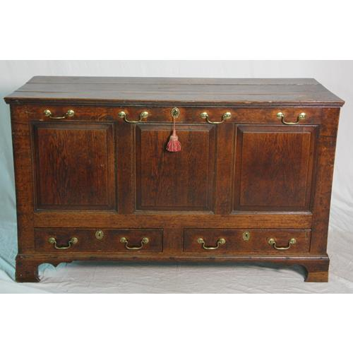 Georgian Country Oak Mule Chest 18thc.