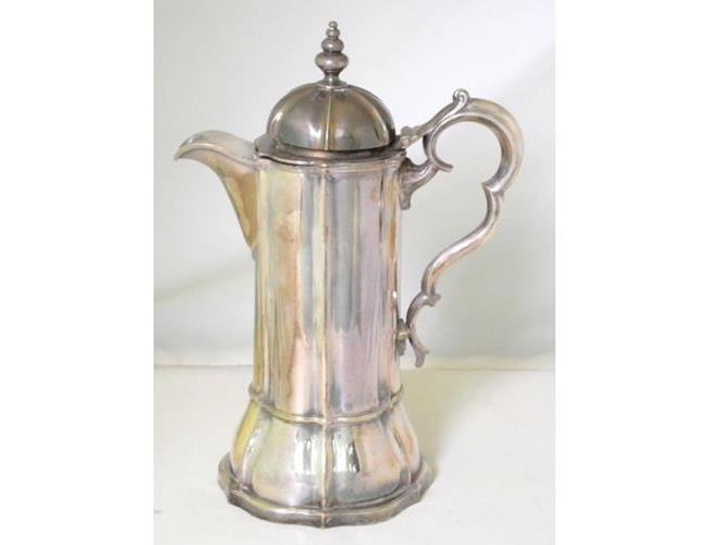 Antique Silver Plate EPNS Wine Ewer. Early  19thc. Height 13.75 Inches.