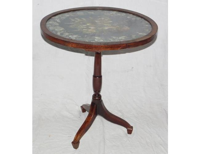 Antique Mahogany Oval Wine Table