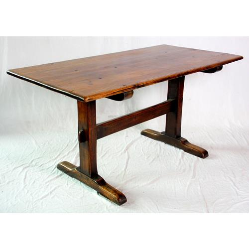 Antique Oak Refectory Farmhouse Table. Early  1900s.