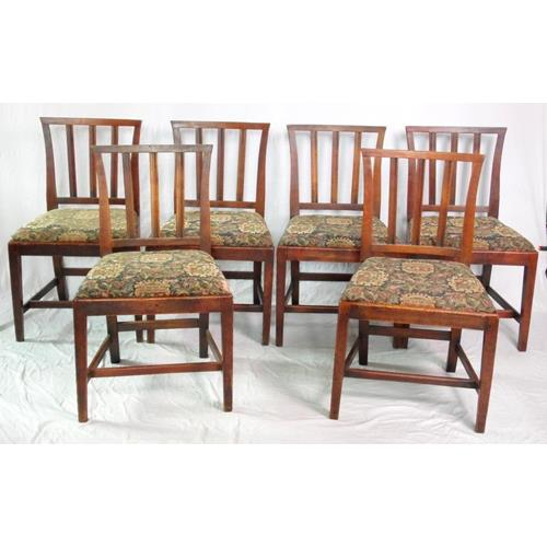 18th Century Set of Six Fruitwood Country  Chairs