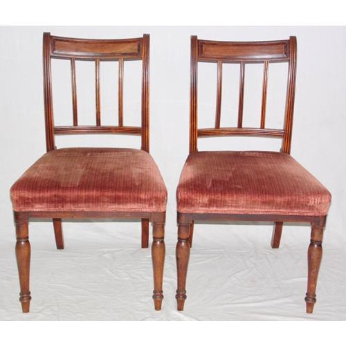 Antique Pair of Mahogany Bar Back  Bedroom/Hall Chairs. 19thc.