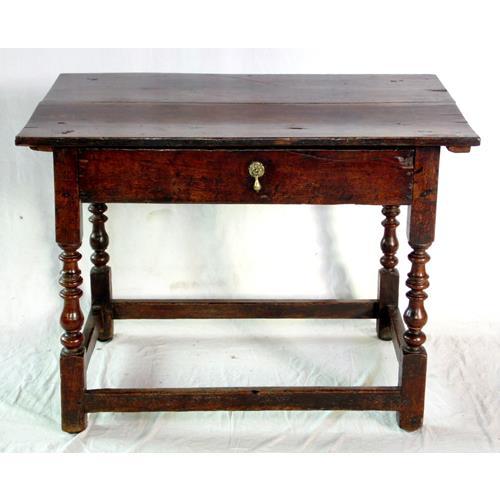 Antique English Jacobean Oak Side Table.