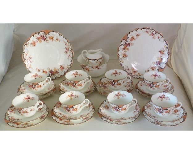 Victorian Collingwood Bros. Staffordshire  'Clyde' 28 Piece Tea Set. Circa 1890.