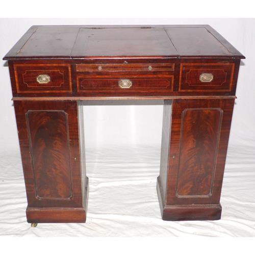 Victorian Mahogany Clerks Desk. 19thc.