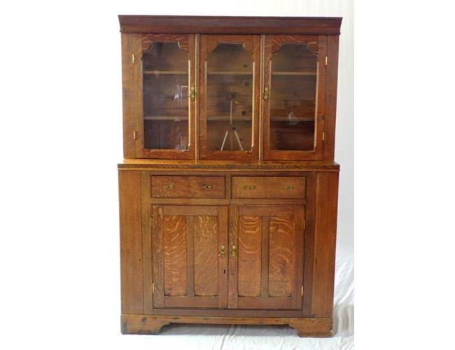 19th Victorian Oak Chapel/School Cabinet.