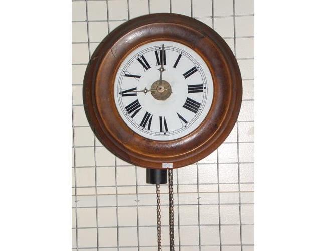 Antique  Mahogany Wall Clock. 19thc.
