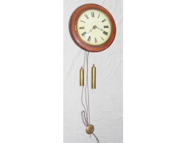 Antique Dutch Mahogany Wall Clock. 19thc.