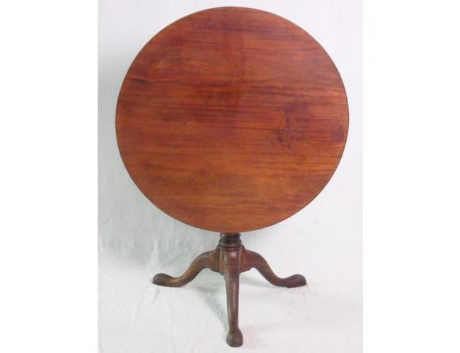Antique Georgian Mahogany 'Birdcage' Tripod  Table. 18thc.
