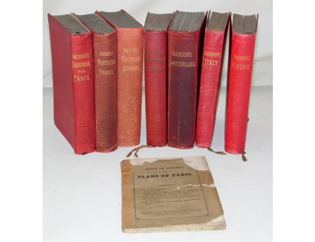 Antique Collection of Baedeker Guide Books