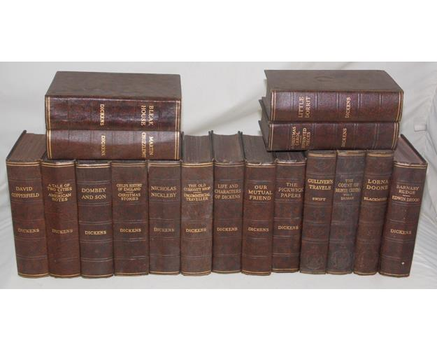 Fourteen Volumes of The Works of Charles  Dickens.Early 1900s.