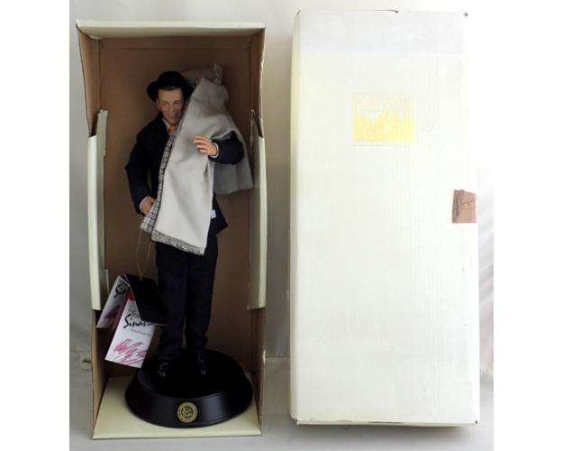 Franklin Mint Musical Frank Sinatra Porcelain  Portrait Doll with Tags & Box.