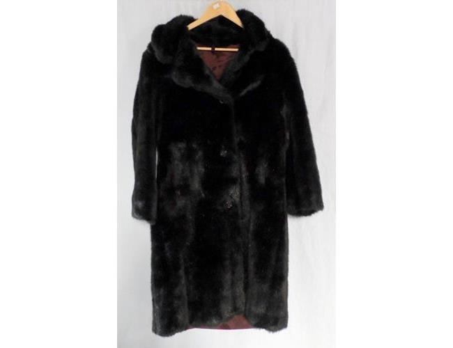 Vintage 1960s Ladies Faux Fur Marno Mink Maxi  Coat.  Medium Size. Length 44 inches.