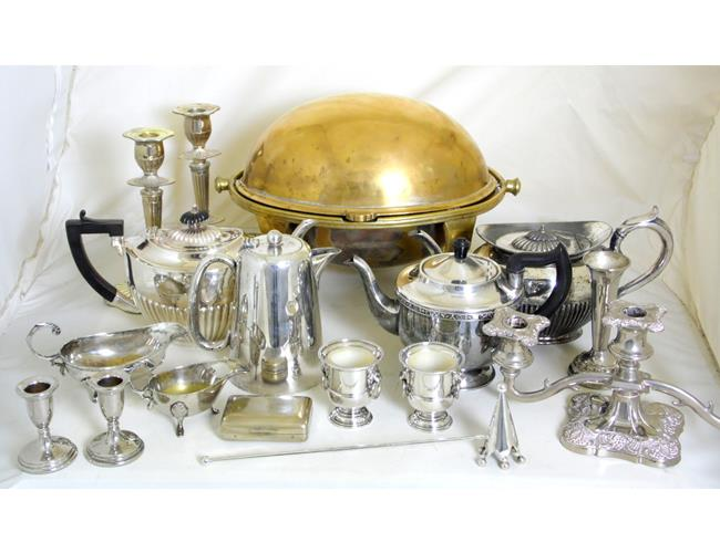 Collection of Silver Plate EPNS.
