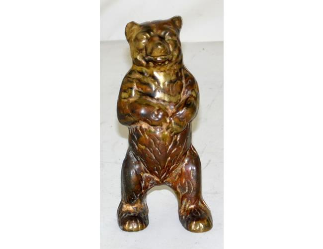 Vintage Gilded Brass 'Bear' Money Box.