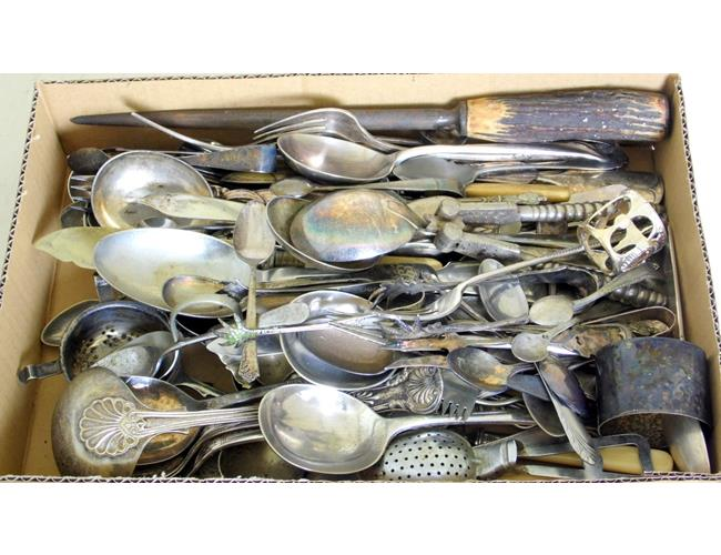 Collection of Silver Plate Flat Ware Etc.